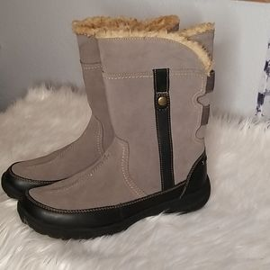 Clarks Suede & Leather Winter Boots